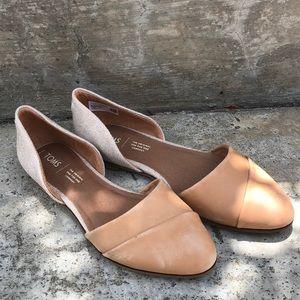 COPY - d'orsay honey leather/rose gold metallic w…
